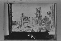 Rome (Italy), photographic reproduction of a drawing by Willem van Nieulandt]
