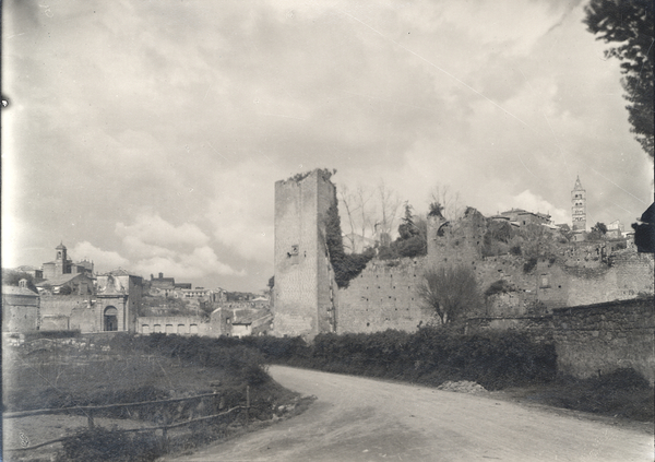 [Viterbo (Italy), view: ancient walls and Porta Faul]