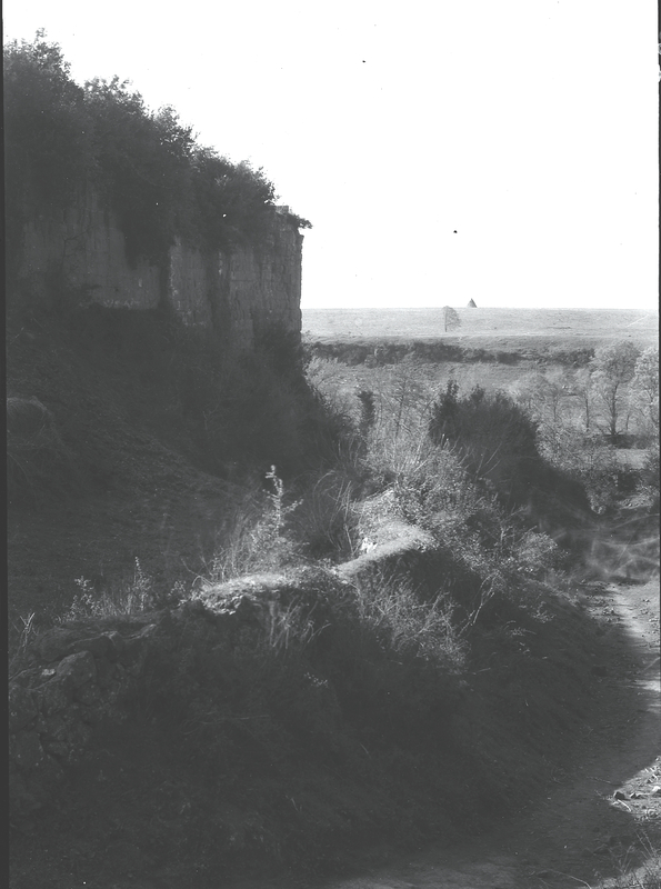 [Ardea (Italy), portion of city walls and surrounding countryside]