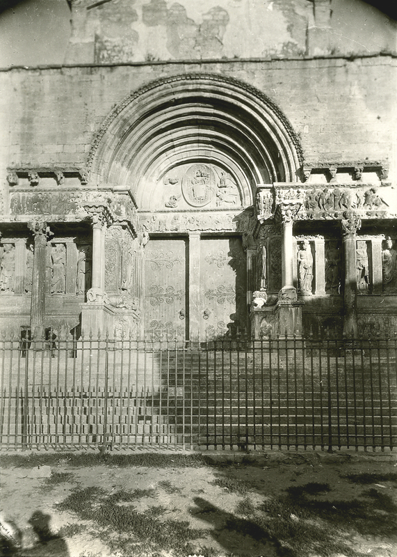 [Saint-Gilles (France), doorway of the Abbey]