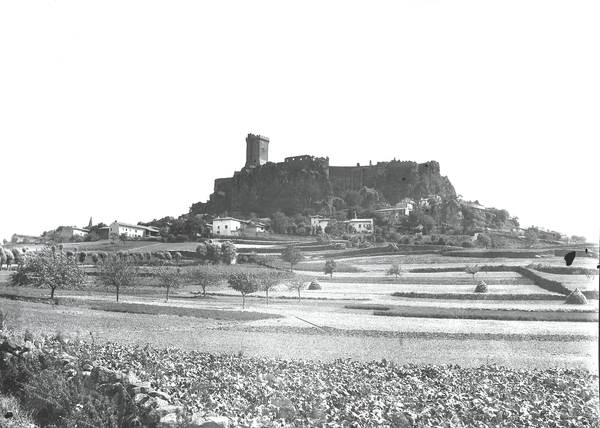[Polignac (France), two views of the castle]