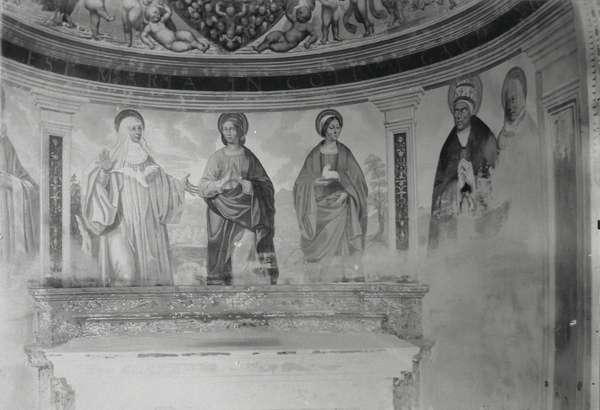 [Abbey of Monteoliveto Maggiore (Italy), fresco, Saints]