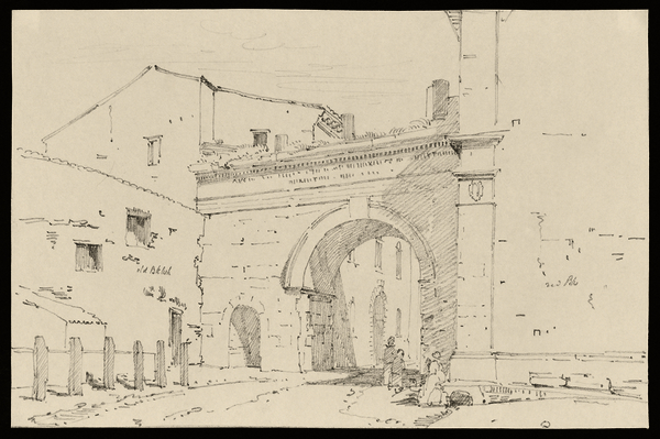 Ancient gate at Forli